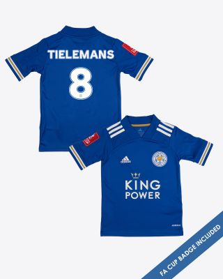 Youri Tielemans - Leicester City King Power Home Shirt 2020/21 - Kids FA CUP
