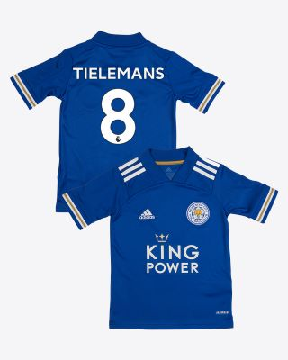 Youri Tielemans - Leicester City King Power Home Shirt 2020/21 - Kids