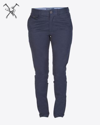 Fox & Crop Mens Navy Trousers