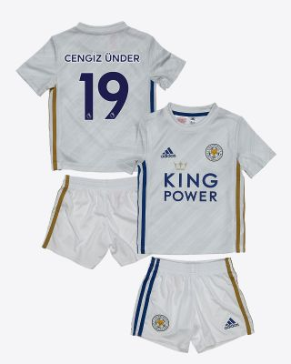 Cengiz Ünder - Leicester City White Away Shirt 2020/21 - Mini Kit