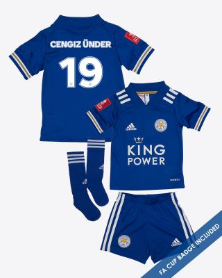 CengizUnder - Leicester City King Power Home Shirt 2020/21- Mini Kit FA CUP