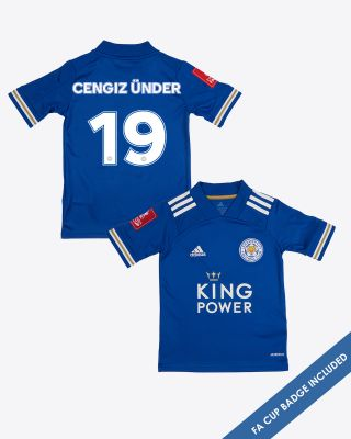 CengizUnder - Leicester City King Power Home Shirt 2020/21 - Kids FA CUP
