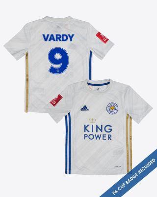 Jamie Vardy - Leicester City Away Shirt 2020/21 - Kids FA CUP