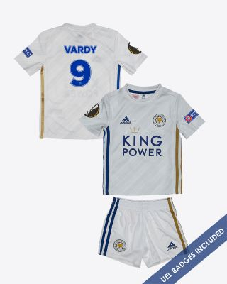 Jamie Vardy - Leicester City Away Shirt 2020/21 - Mini Kit UEL