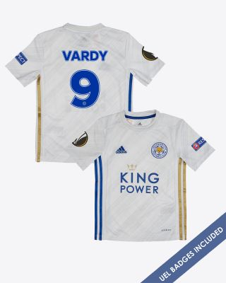 Jamie Vardy - Leicester City Away Shirt 2020/21 - Kids UEL