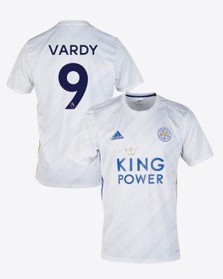 Jamie Vardy - Leicester City White Away Shirt 2020/21