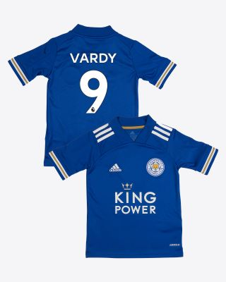 Jamie Vardy - Leicester City King Power Home Shirt 2020/21 - Kids