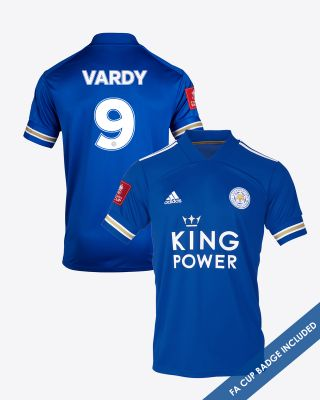 Jamie Vardy - Leicester City King Power Home Shirt 2020/21 - FA CUP