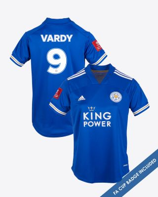 Jamie Vardy - Leicester City King Power Home Shirt 2020/21 - Womens FA CUP