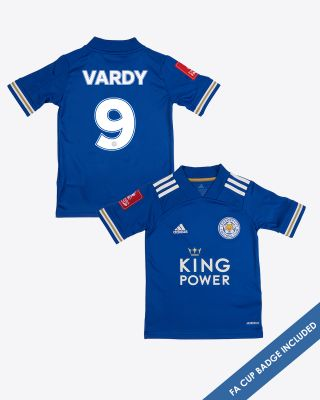 Jamie Vardy - Leicester City King Power Home Shirt 2020/21 - Kids FA CUP