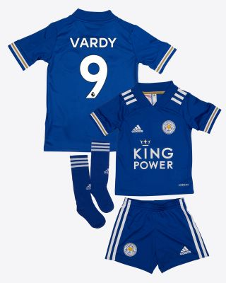 Jamie Vardy - Leicester City King Power Home Shirt 2020/21 - Mini Kit