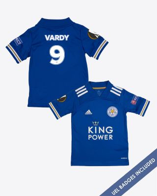 Jamie Vardy - Leicester City King Power Home Shirt 2020/21 - Kids UEL