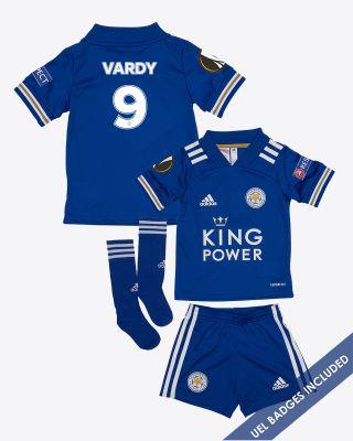 Jamie Vardy - Leicester City King Power Home Shirt 2020/21 - Mini Kit UEL
