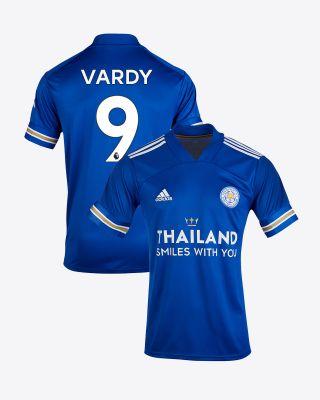 Jamie Vardy - Leicester City TSWY Home Shirt 2020/21 - Kids