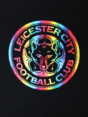 Leicester City Black Crest Pride T-Shirt