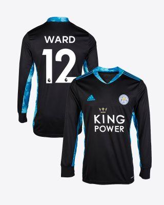 Danny Ward - Leicester City King Power Goalkeeper Shirt Black 2020/21 - Kids
