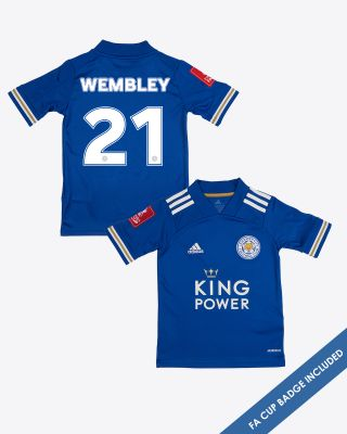 Leicester City Home Shirt 2020/21 - Kids WEMBLEY 21