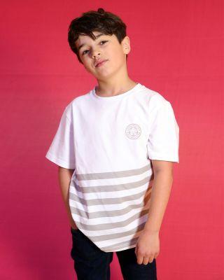 Leicester City Kids Stripe T-Shirt