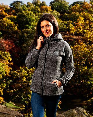 Leicester City Womens Grey/Black Silverston Fleece Jacket