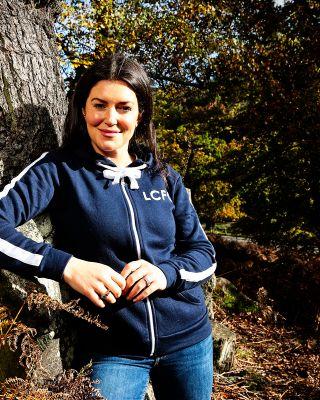 Leicester City Womens Navy Anita Zip Hoody