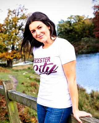 Leicester City Womens  White/Maroon Alexadrite T-Shirt