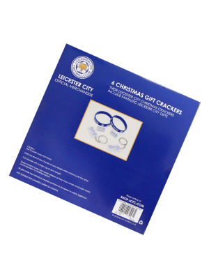 Leicester City 6 Pack Christmas Crackers