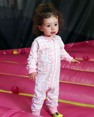 LCFC All Over Print Pink Babygrow