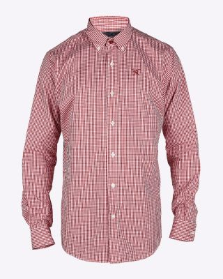 Fox & Crop Mens Gingham Shirt
