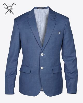 Fox & Crop Mens Blazer Blue