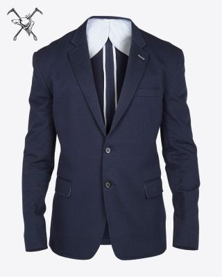 Fox & Crop Mens Blazer Navy