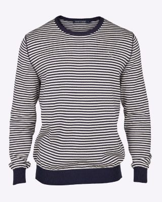 Fox & Crop Mens Fine Knit Stripe Jumper