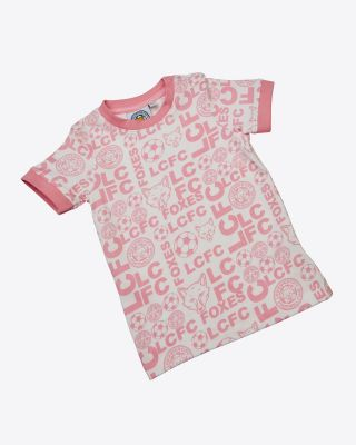 LCFC All Over Print Pink Tee