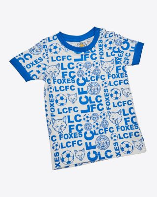 LCFC All Over Print Blue Tee