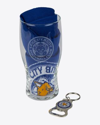 LCFC Royal Pint Glass Gift Set