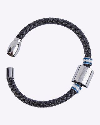 LCFC Crest Colour Stripe Leather Bracelet