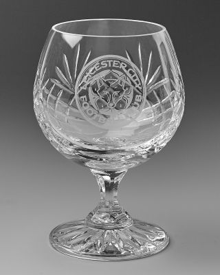 LCFC Crystal Brandy Glass