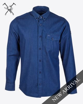 Fox & Crop Mens Denim Shirt
