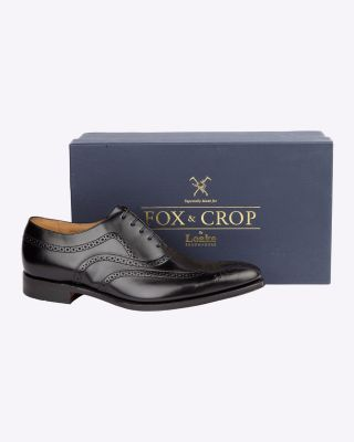 Fox & Crop Jones Black Brogue