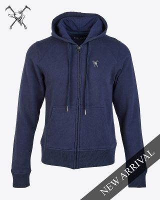 Fox & Crop Womens Navy Hoody