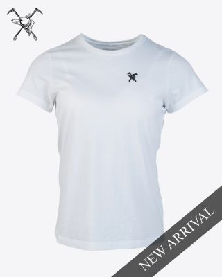 Fox & Crop Womens White T-Shirt