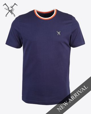 Fox & Crop Mens Navy T-Shirt