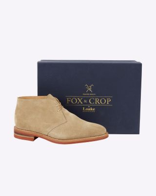 Fox & Crop Sand Suede Chukka Boot