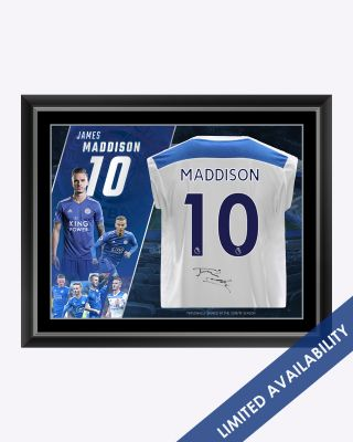 LCFC Framed Signed Shirt - James Maddison