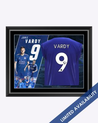LCFC Jamie Vardy Framed Signed Shirt