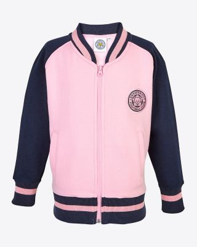 LCFC Girls Pink/Navy Bomber
