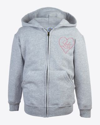 LCFC Girls Heart Hoody