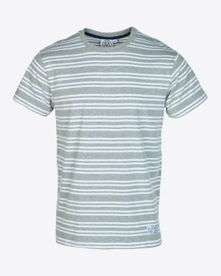LCFC Mens Grey/White Stripe Tee