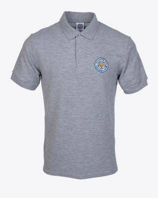 LCFC Mens Essential Polo Grey