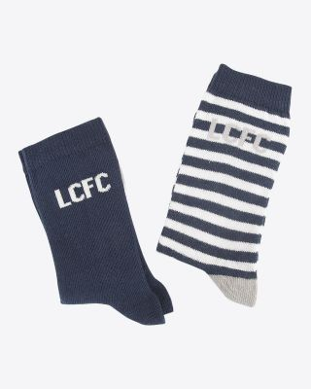 LCFC Twin Pack Kids Socks