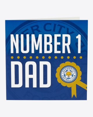 LCFC Greetings Card - No 1 Dad